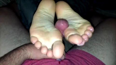 homemade french pedicure footjob & reverse night tim