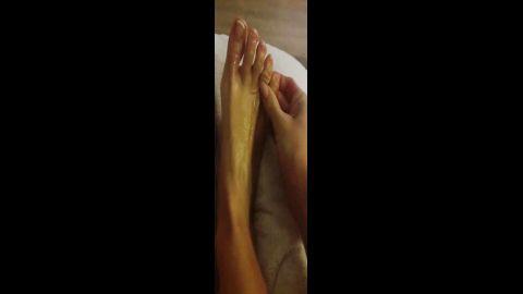amateur sexy foot massage
