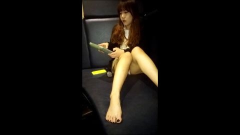 Sexy Korean performer lets me worship her fantastic Asian toes & feet in the nigh club