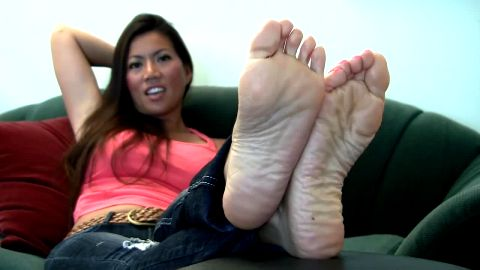 Finally have some time to relax & rest my sexy Asian feet after long day at work