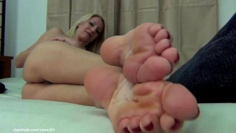 Revealing my sexy mature feet and toes together with big knockers