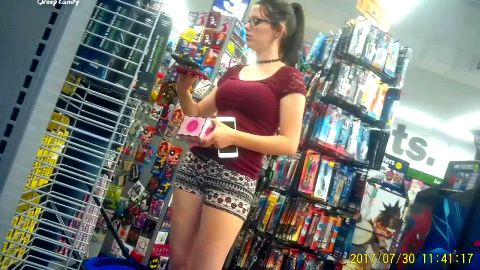 Got sexy amateur girl Lexi on my cam wearing flip flops at the store