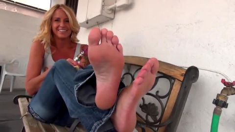 Nothing feels better than resting my sexy mature feet after long day at work