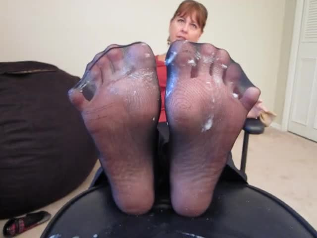 Feet mature nylon Nylon Feet