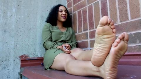 Feels great taking my shoes off and resting soft ebony feet in public