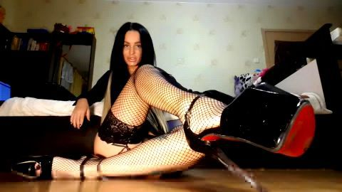 Incredible feet JOI with sensation Russian slut in black stockings and sexy shoes