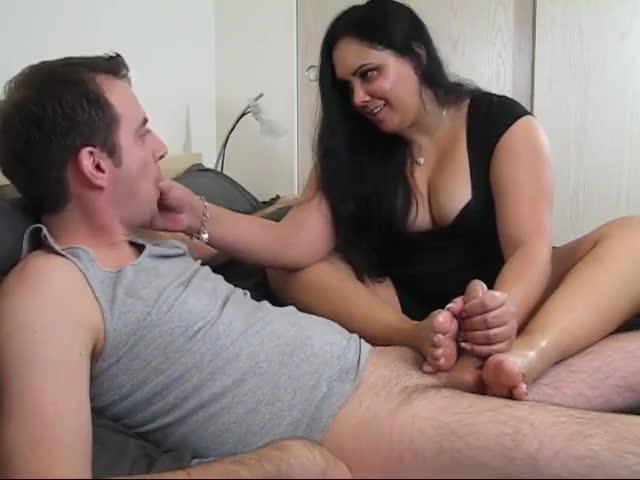 Wife Gives Handjob Footjob Pov