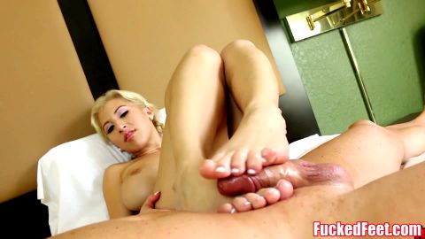 Asian babe Gives Footjob at FuckedFeet