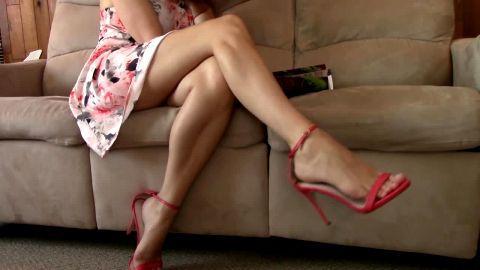 sexy open shoes & hot longs legs