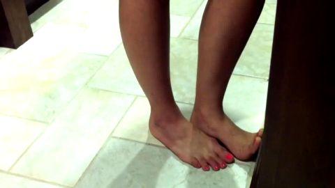 Lyssa's Candid Feet