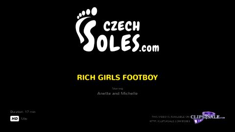 Lovely college girl watches her slave smelling her snickers and feet (Czech Soles)