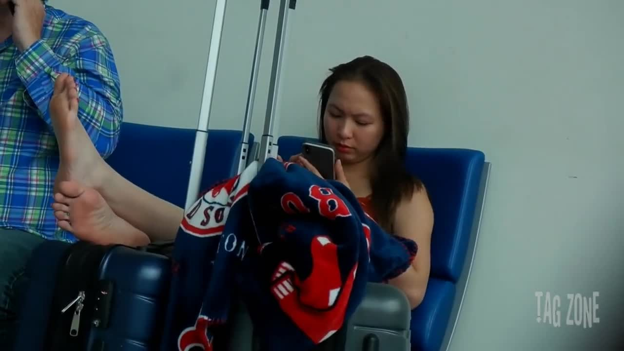 Asian Feet In Airport