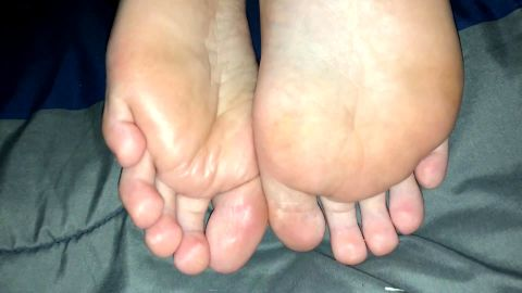 saras sweaty and smelly soles after work