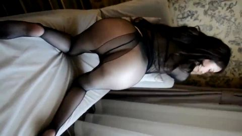 Asian beauty loves wearing sexy lingerie on her hot feet