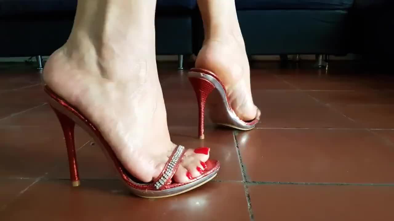 Candid Dangling High Heels